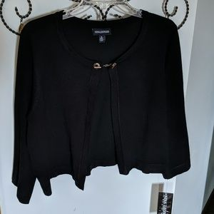 Black Open Style Sweater with Toggle (L)